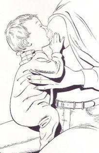 Dar el pecho con el bebé a caballito