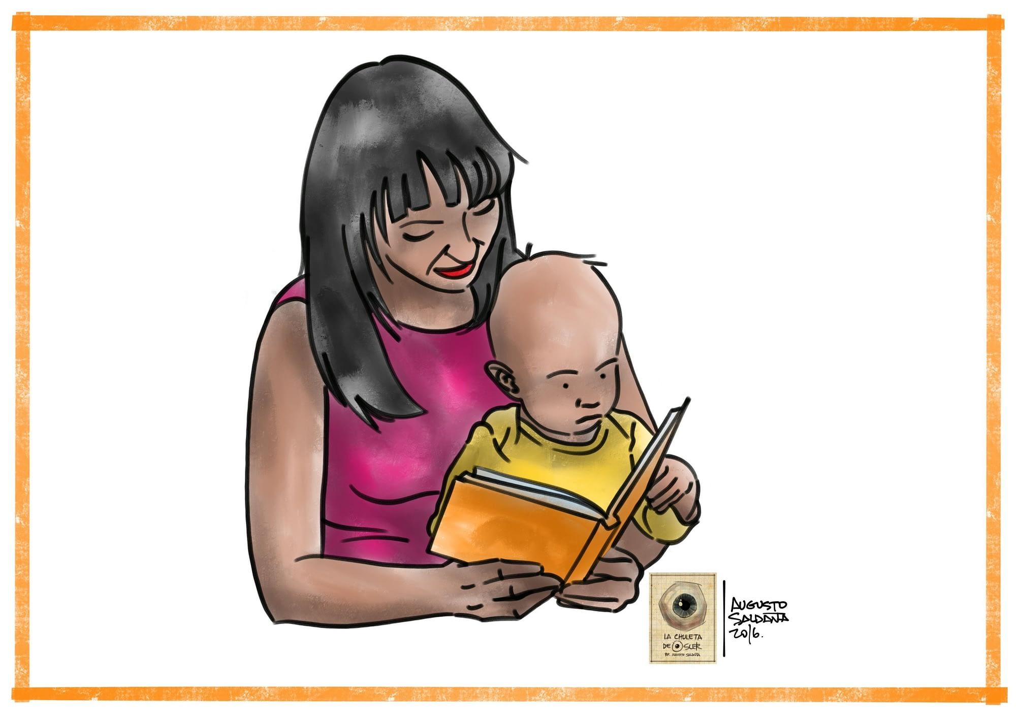 mamá lee a su hija